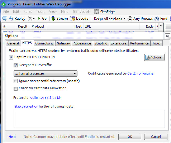 Decrypt HTTPS traffic with Wireshark and Fiddler | Helmut's