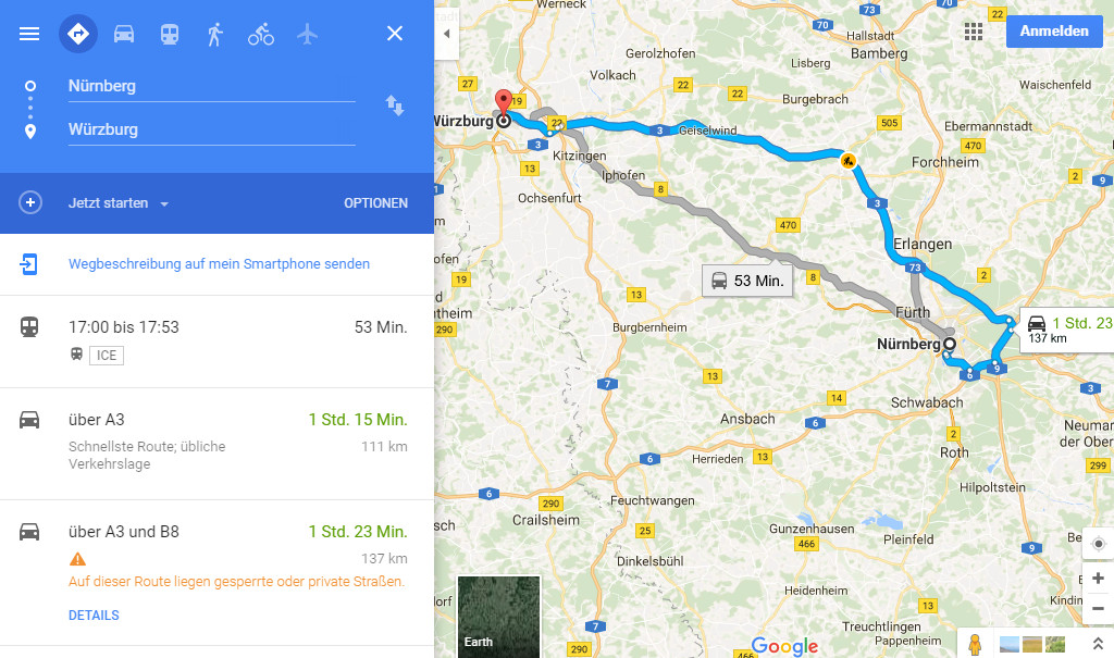 Working with gpsvisulizer to extract a Google Maps Track/Route in