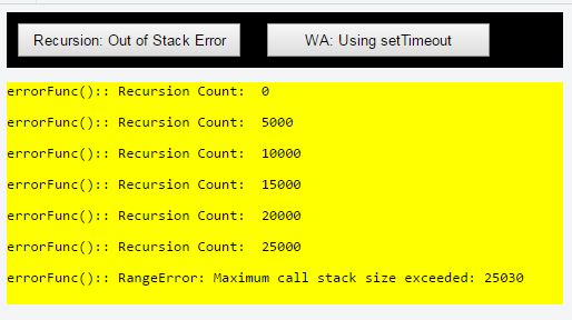 Avoid Maximum call stack size exceeded in JavaScript